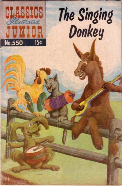 Illustrated Book Cover Generator : Classics illustrated junior the singing donkey on