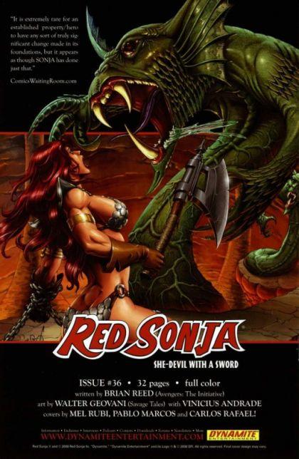 Red Sonja 35   Dynamite 2008