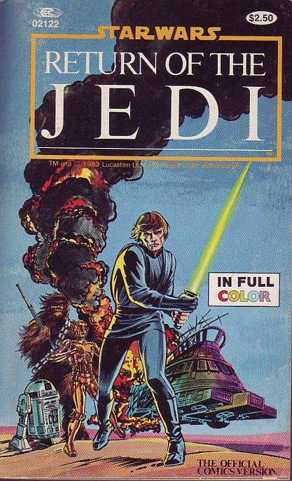 Illustrated Book Cover Quest : Marvel illustrated books star wars return of the jedi