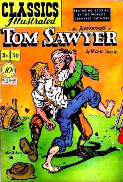 Illustrated Book Cover Generator ~ Classics illustrated a adventures of tom sawyer on