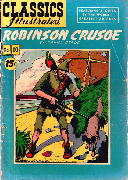 Illustrated Book Cover Generator ~ Classics illustrated a robinson crusoe on collectorz