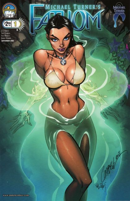 Aspen Comics 2008 Michael Turners FATHOM #0 Near Mint Condition Bagged and Boarded