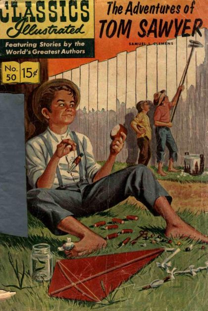 Illustrated Book Cover Generator : Classics illustrated b adventures of tom sawyer on