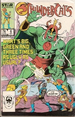 Thundercats Comics Online on Comic Database    Thundercats  Marvel Comics   Star Comics      6