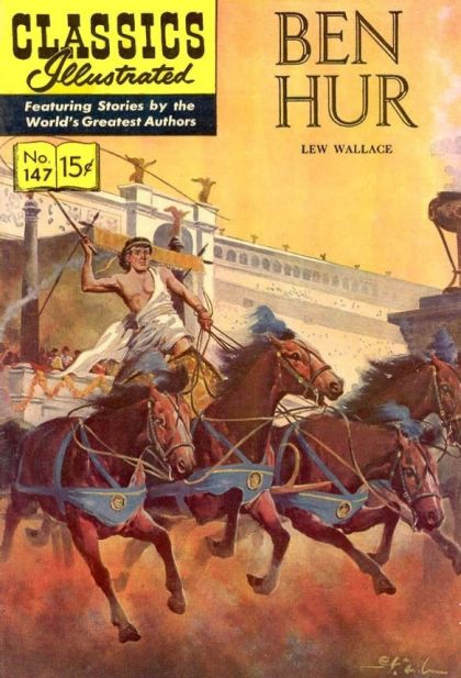 Illustrated Book Cover Generator ~ Classics illustrated b ben hur on collectorz